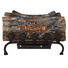 Electric Fireplace Logs Grate Heater Crackling Sound 20.5 in. Home Decors NEW