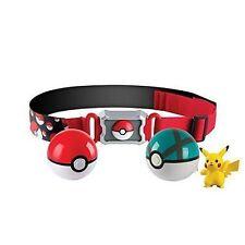 Pokemon Clip N Carry Poke Ball Belt With Pikachu Figure Tomy T19220