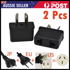 US EU USA JAPAN ASIA to AU Australia Plug AC Power Adapter Travel Converter 2X