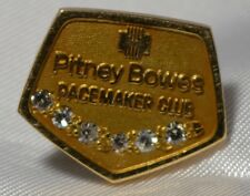 Club Employees Tie Tack Free Shipping Pitney Bowes 10k & Diamond Pacemaker