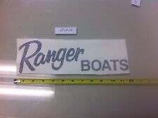 "Ranger Boats BLACK 11"" vinyl sticker decal boat fishing camping truck lake"
