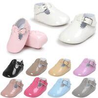 0-18 M Newborn Baby Boy Girl Pre-Walker White Soft Sole Pram Shoes Trainers