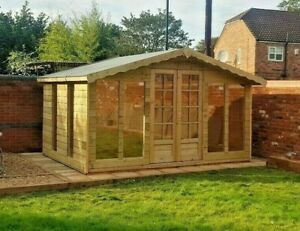 12x8ft insulated deluxe Summerhouse shed