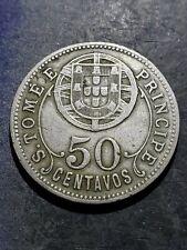 1929 SAO TOME & PRINCIPE 50 CENTAVOS  Rare Coin