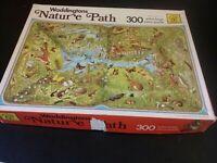 Vintage 1980 Waddingtons Nature Path Jigsaw Puzzle 300 Extra Large Pieces
