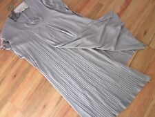 BEAUTIFUL, GREY KNIT STRETCH DRESS ,SIZE APPROX  14/16, BY MOUSE J