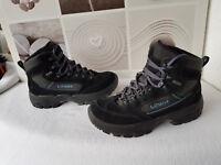 LOWA Damen Gr. 40 Stiefel Winterstiefel LEDER Wanderstiefel GORE TEX Boots
