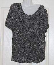 NWT Womens size 14 black & almond overlay tunic made by GRACE HILL