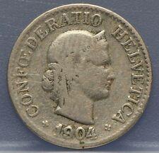 Zwitserland - Switzerland  10 Rappen 1904 KM# 27