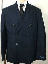 Ralph Lauren Polo Suit Jacket Navy Blue Mens 42 Regular Double Breasted