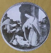 Madonna Adoring the Child, Lorenzo di Credi,  Magic Lantern Glass Slide