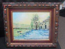 """Enamel On Copper Painting Signed Dated Framed 12-1/2"""" x 14-1/2"""" - 8"""" x 10"""""""