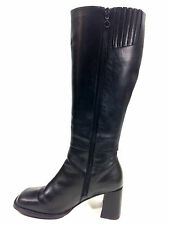 Hush Puppies Chiara Black Knee High Womens Boot Size 7 USA.