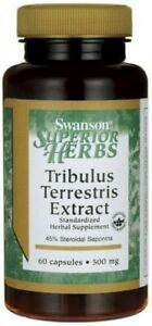 Swanson  Tribulus Terrestris Extract, 500mg - 90 caps  Free P&P