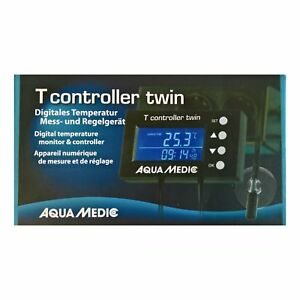 AQUA MEDIC T CONTROLLER TWIN DIGITAL TEMPERATURE MONITOR HEATER COOLING FAN FISH