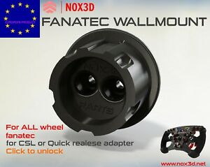 fanatec wheel wall mount support wallmount quick release Suspension hook roue