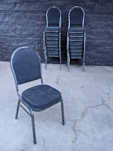 (17) Durable Steel Frame Padded Stacking Convention Banquet Church Chairs