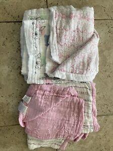 Girls Aden+Anais Silky Soft Dream Blankets Lot