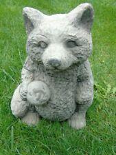 statue d un raton laveur en pierre pat ... super prix !