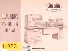 Leblond Dual Drive Lathe Instructions and Parts Manual 1951