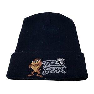 Vintage NFL Los Angeles Raiders Taz Tasmanian Devil Beanie Hat Nutmeg 90s