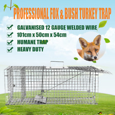 Escaping Outdoors Professional Fox Trap or Bush Turkey 101 x 50 x 54cm Trap, Extra Large