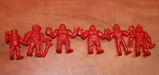 VINTAGE muscle M.U.S.C.L.E. MEN LOT OF 6 RED FIGURES used free shipping USA