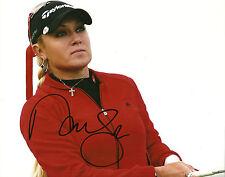 Natalie Gulbis Hand Signed 8x10 Photo LPGA AUtograph Golf Proof