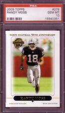 RANDY MOSS 2005 Topps Football Card PSA 10 Low Pop