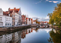 BRUGES BELGIUM NEW A3 CANVAS GICLEE ART PRINT POSTER
