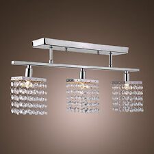 Crystal Chrome 3 Light Chandelier Pendant Ceiling Fixture Lighting Lamp Mount