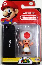World of Nintendo ~ TOAD Figure ~ Super Mario Bros. ~ JAKKS