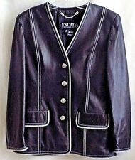 Escada Leather Jacket US 12 Eur 42 Margaretha Ley