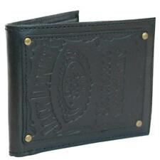 Jack Daniels - Logo Patch Leather Bi Fold Wallet With Coin Pocket - New Official