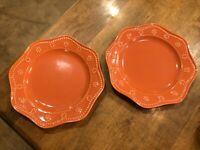 Set of 2 - Food Network Stoneware Food Network Fontinella Coral Salad Plates