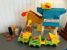 Vintage Fisher Price Little People Lift and Load Depot Construction Complete