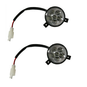 2pc 2 WIRE LED FRONT HEADLIGHT HEAD LIGHT LAMP ATV GO KART QUAD SCOOTER