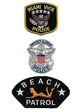 MIAMI VICE BEACH PATROL Florida POLICE Sew On Iron On NOVELTY PATCH 3 Pcs Set