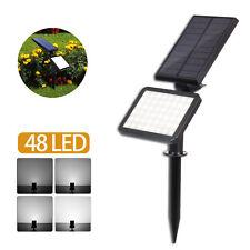 48 LED Solar Powered Flood Light Outdoor Yard Garden Spot Lamp Waterproof Latest