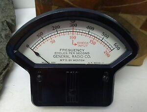 Weston Vintage Gauge Microammeter Model 891 NIB NOS original packaging