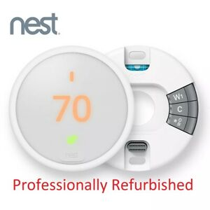 Nest Thermostat E Programmable Smart Thermostat - White (T4000ES) w/ WIRING BASE