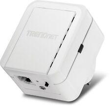 TRENDnet N300 Range Extender Plug Wireless WiFi Signal Ethernet Internet Adapter