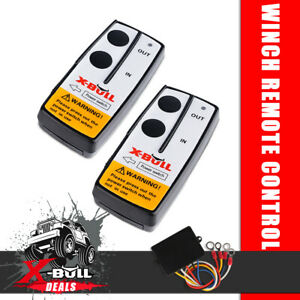 X-BULL Wireless Winch Remote Control 12 Volt Twin Handset Easy To Install 150ft