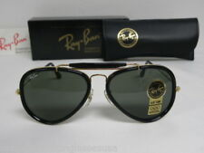 New Vintage B&L Ray Ban Traditionals Style G Black Outdoorsman Aviator W0744 NOS