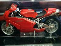 Moto Ducati 999 Testastretta Rossa - Scala 1:24 Die Cast - Atlas Nuova