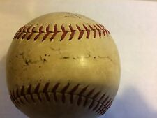 HANK GREENBERG and others SIGNED Baseball JSA Full LOA 1940 TIGERS American Leag