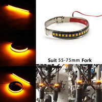 Waterproof Motorcycle Fork Turn Signals Indicator Blink Light Amber LED Strip FA
