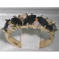 Echtschmuck-Ringe mit Saphir-Hauptstein für Damen