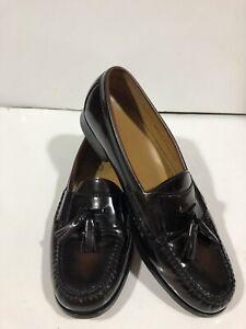 Cole Haan Men's Size 10D Leather Burgundy Tassel Loafer Dress Shoe