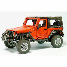 Jeep Wrangler Red Adventurer Technic MOC building block bricks Vehicle Car